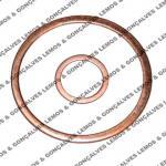 Arruela de cobre para vedação